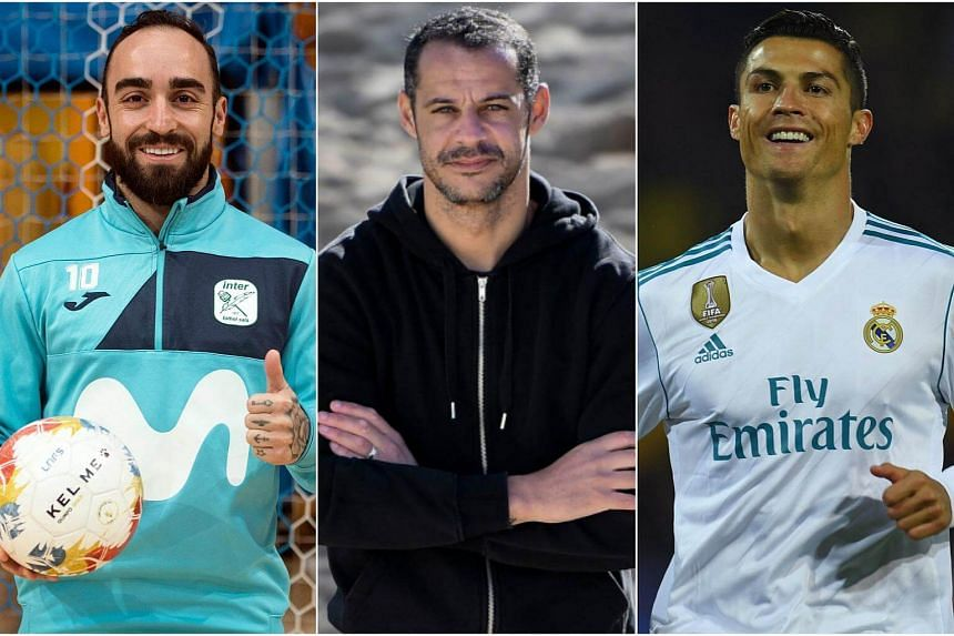 (From left) Inter Movistar's Ricardinho, Sporting CP's Madjer and Real Madrid's Cristiano Ronaldo.