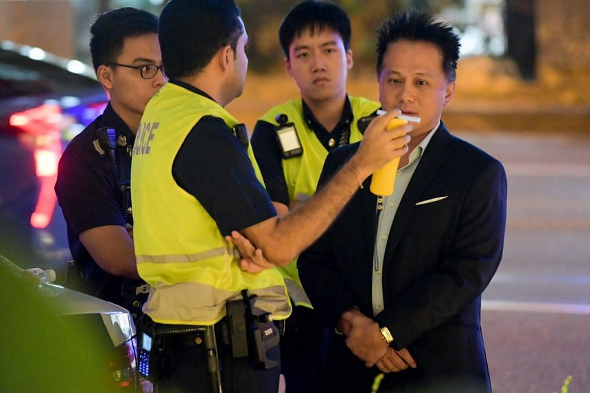 In a media statement, police said that a 41-year-old man was arrested for suspected drink driving. He was behind the wheel of the Mercedes-Benz.