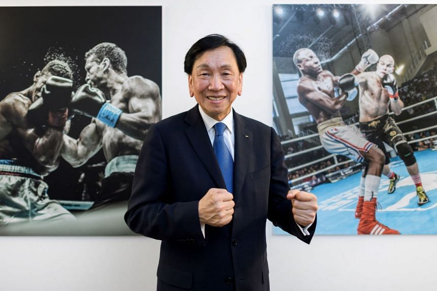 Then Aiba president C.K. Wu posing at the association's headquarters in Lausanne on Aug 2, 2017. The International Olympic Committee suspended payment to Aiba until the association sorts out its problems, on Dec 6, 2017.