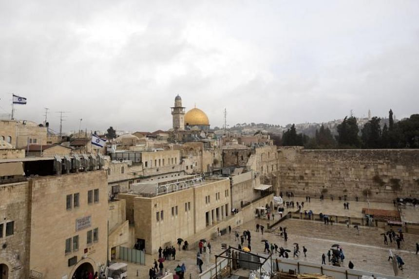 A view of the the Old City of Jerusalem on Dec 6, 2017.