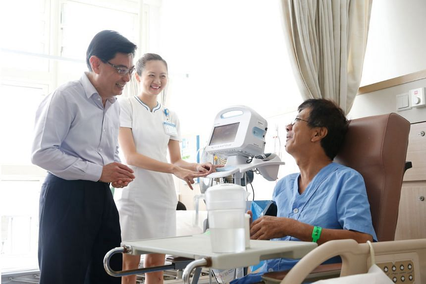 Finance Minister Heng Swee Keat expects government expenditure on healthcare to go up by at least $3 billion by 2020 from the current levels.