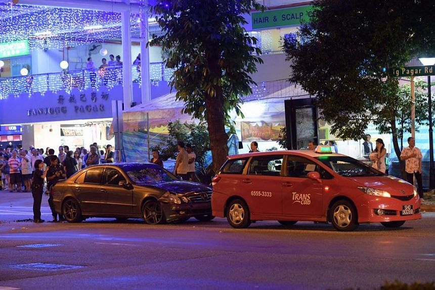 The accident took place at about 6.30pm, according to eyewitnesses.
