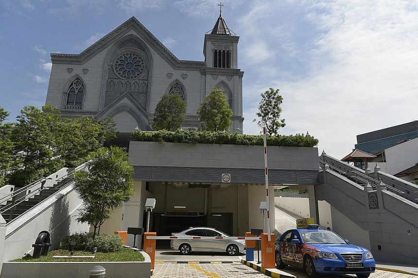 The Novena Church in Thomson Road, known officially as the Church of St Alphonsus, introduced charges for its carpark on Monday. Cars are now charged $1.50 for the first hour or less, and 50 cents for every subsequent 15 minutes, whether the vehicles
