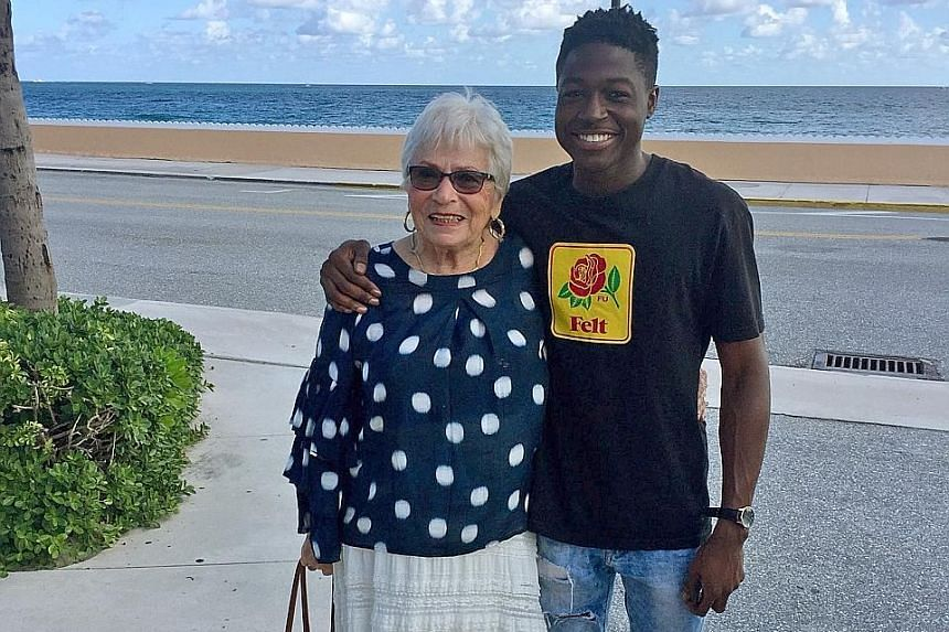 Rapper Spencer Sleyon, 22, and and retiree Rosalind Guttman, 81, connected over the Words With Friends game on their mobile phones.