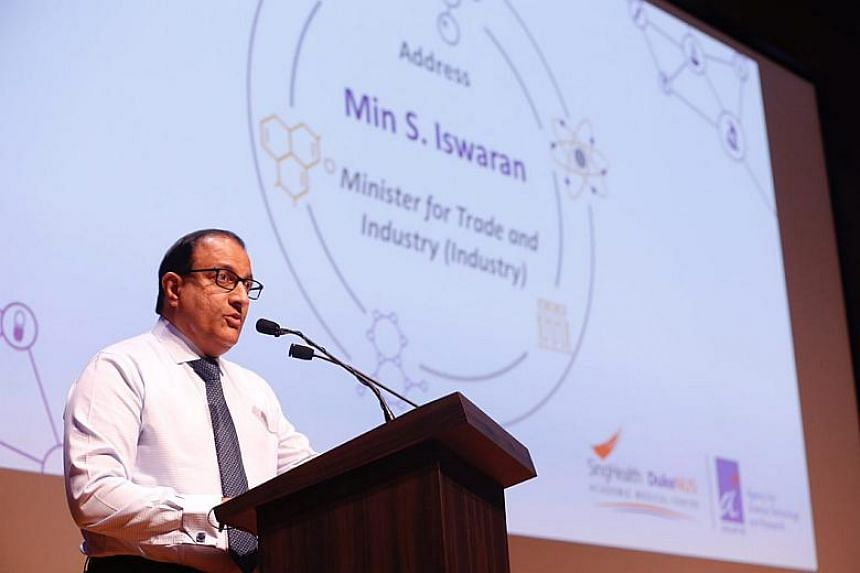 The signing was witnessed by Minister for Trade and Industry (Industry) S Iswaran.
