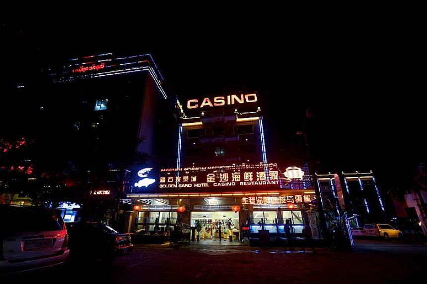 A Chinese restaurant, hotel and casino seen at the Preah Sihanoukville province in Cambodia.