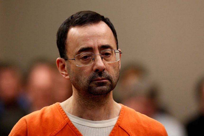 Former Michigan State University and USA Gymnastics doctor Larry Nassar appearing at Ingham County Circuit Court in Lansing, Michigan, on Nov 22.