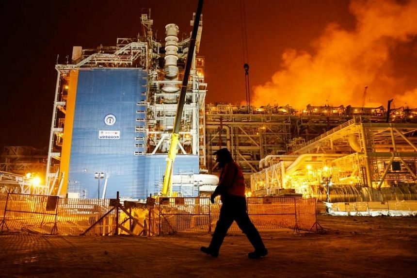 The Yamal LNG gas plant in the port of Sabetta, on the Yamal Peninsula above the Arctic Circle.