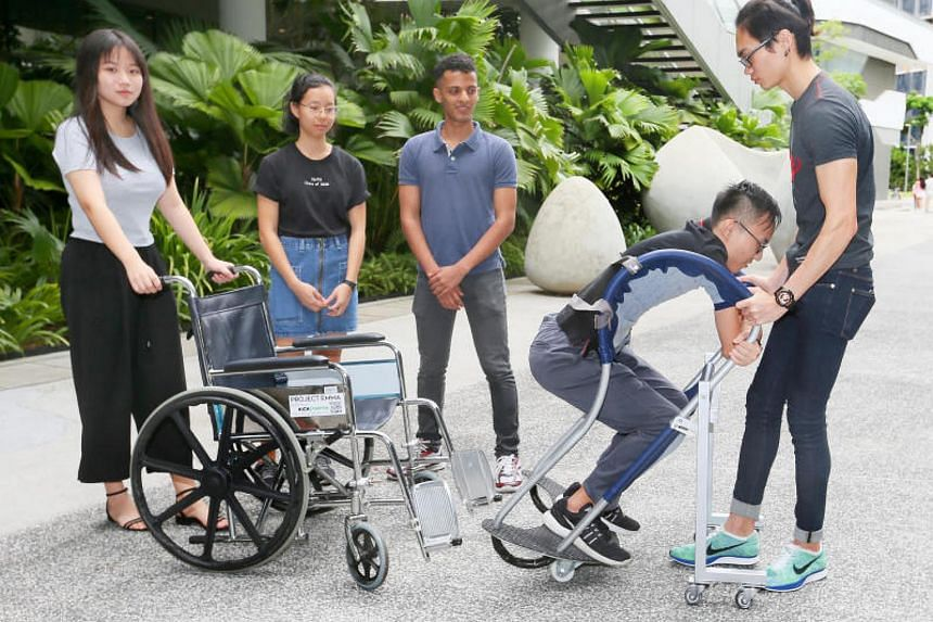 The LambdaRoll helps caregivers move users from the wheelchair to another surface.