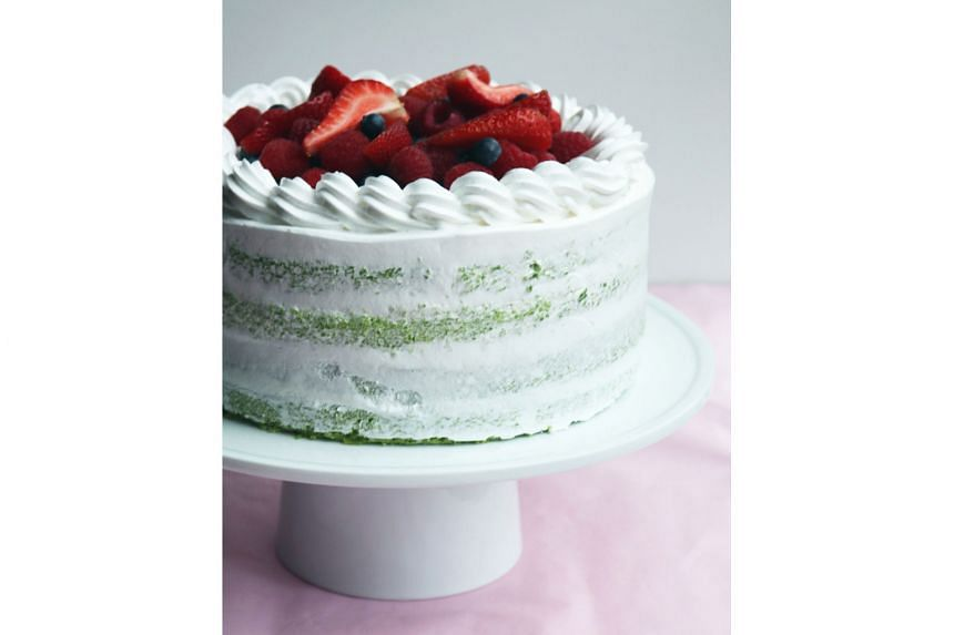 Pandan Berry Lime ($7 a slice, $70 for a whole cake)