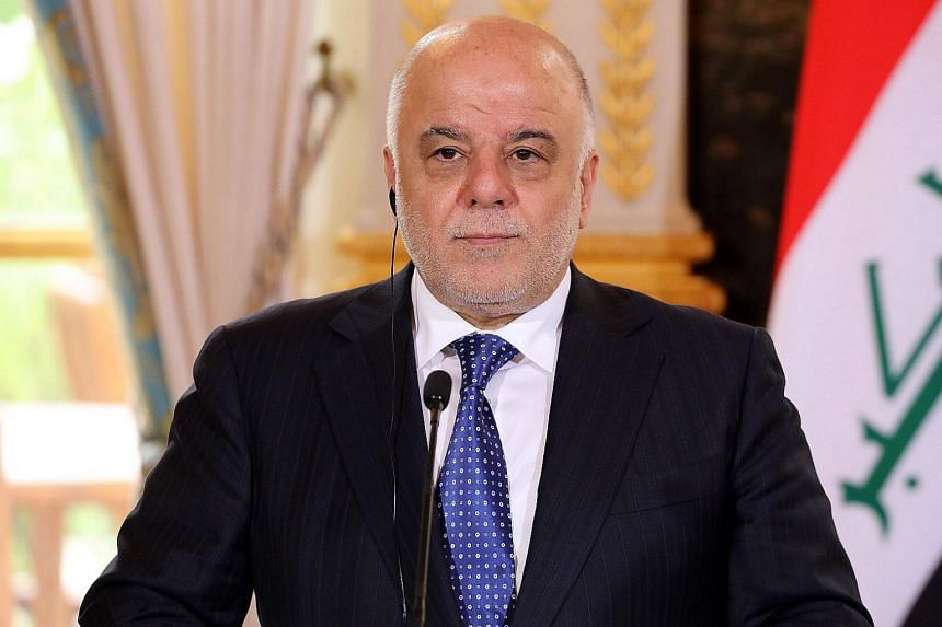 """""""Our forces are in complete control of the Iraqi-Syrian border and I therefore announce the end of the war against Daesh (ISIS),"""" Prime Minister Haider al-Abadi told a conference in Baghdad."""