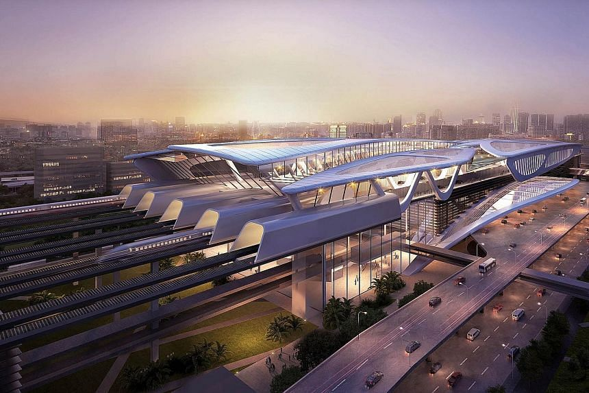 Eight stations will be built along the 350km line, including the Bandar Malaysia station. Only 15km of the HSR line will be in Singapore.
