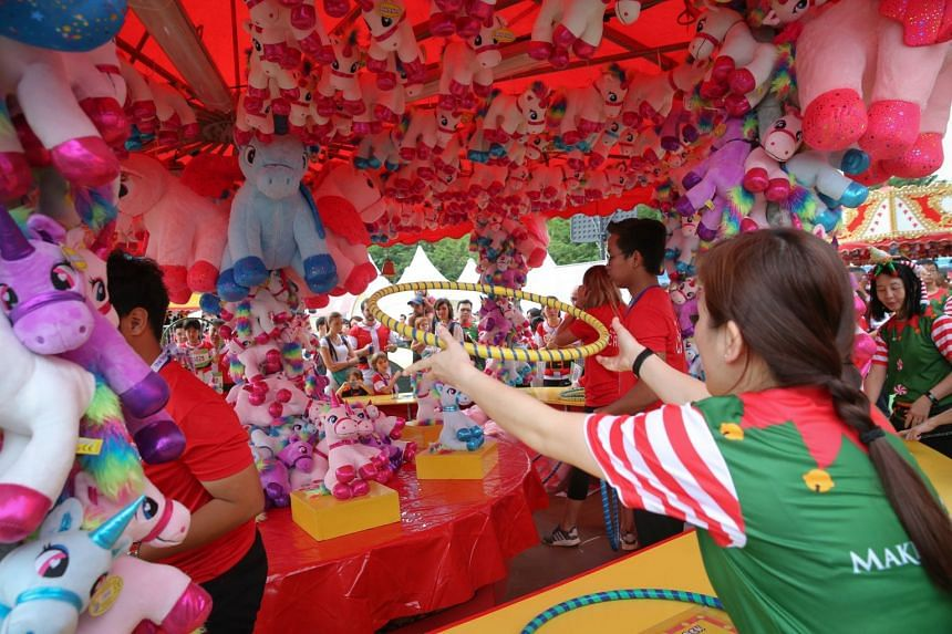 Participants playing in the carnival after the 5km run and 2km walk.
