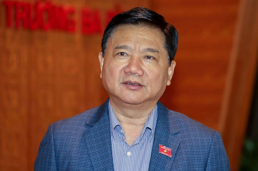 Former top Communist Party official Dinh La Thang during a national assembly session in Hanoi, on Oct 30, 2017.