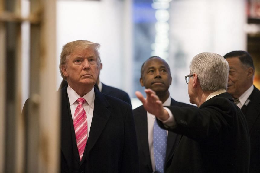 Trump tours the Mississippi Civil Rights Museum in Jackson.