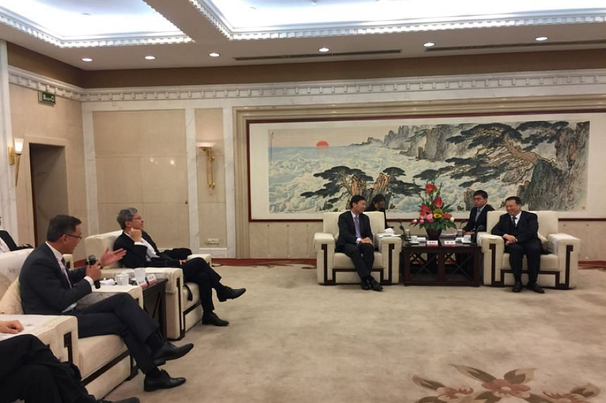 Senior Minister of State for Communications & Information and Health Chee Hong Tat in a meeting with Shandong governor Gong Zheng during his four-day trip to the province last week.