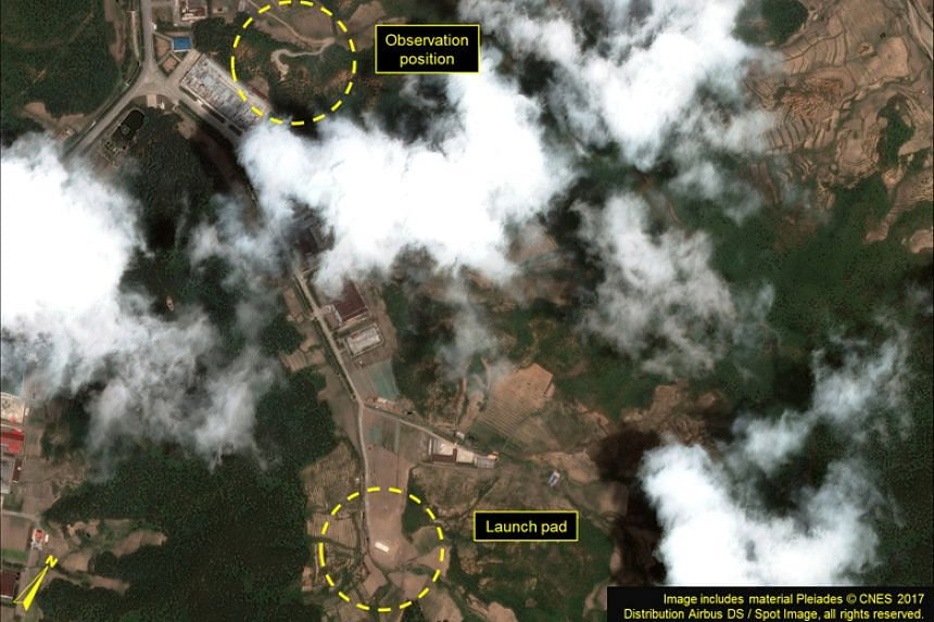 Satellite imagery shows the Panghyon Aircraft Factory in North Korea, near where the state launched a single, land-based intermediate range ballistic missile that was tracked for 37 minutes before landing in the Sea of Japan, or East Sea,  in July.