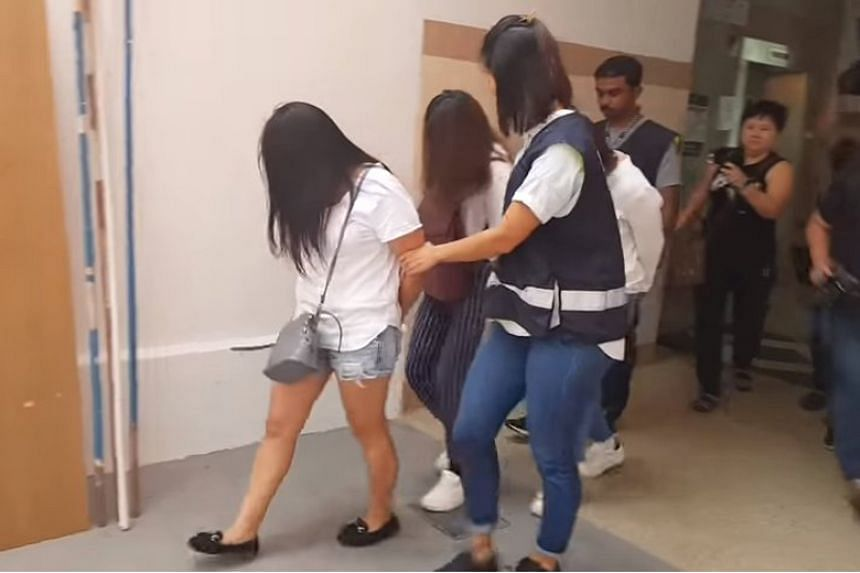 Three women were arrested on Dec 8, 2017, for allegedly running an illegal brothel in Jurong West flat.