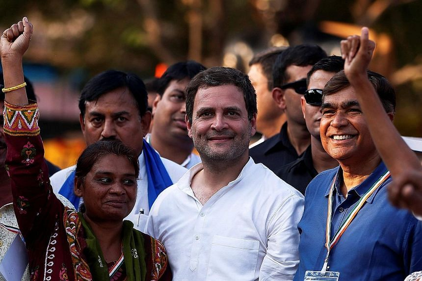 Mr Rahul Gandhi with supporters at a rally near Ahmedabad last month ahead of Gujarat state assembly elections. Known for his love of reading and racing motorbikes, Mr Gandhi has little to show in terms of political success. While he has been prepari