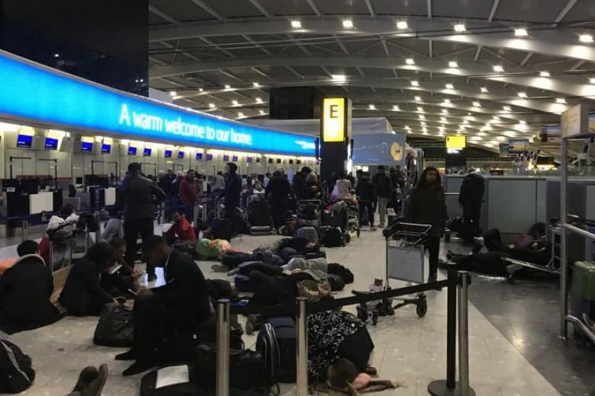 Some passengers said on Twitter that they waited more than 12 hours at Heathrow.