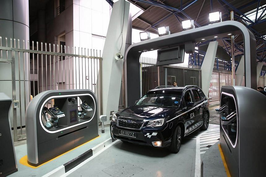 Prototype of an Automated Passenger In-Car Clearance System at Woodlands Checkpoint.