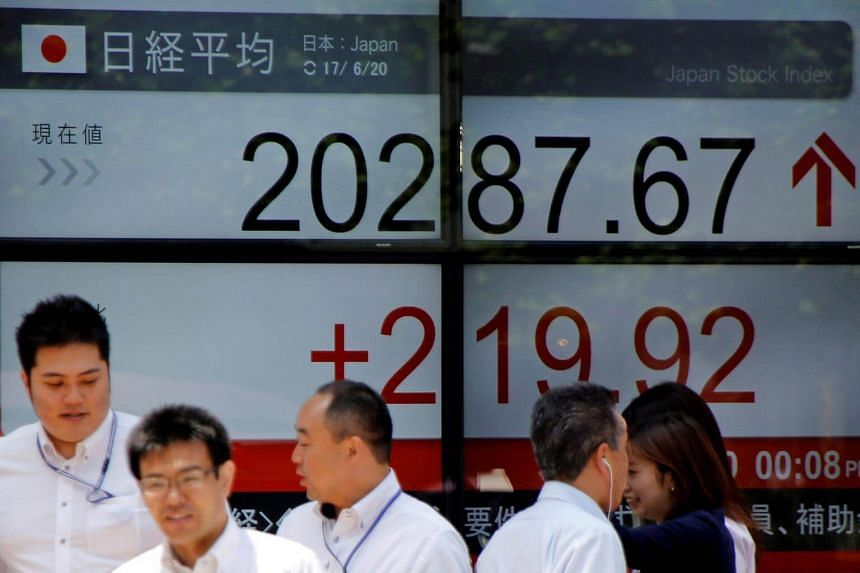 Most Asian markets rose, tracking fresh records on Wall Street following forecast-busting US jobs data.