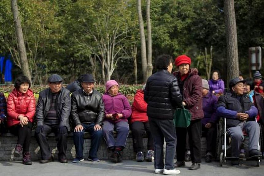 Cap use this: China is struggling with an ageing population and shortfalls in its pension schemes.
