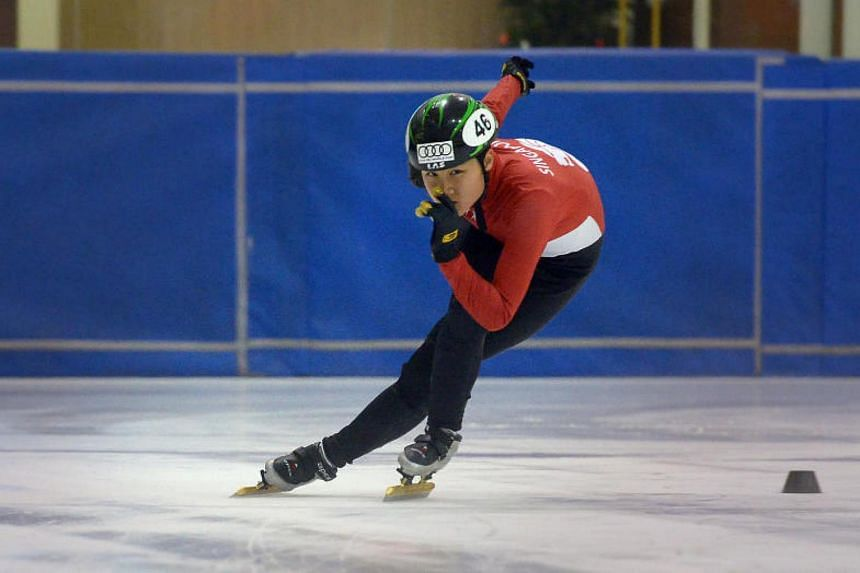 Short track speed skater Cheyenne Goh was crowned the Senior Ladies Champion at the Australian Open Championships over the weekend.