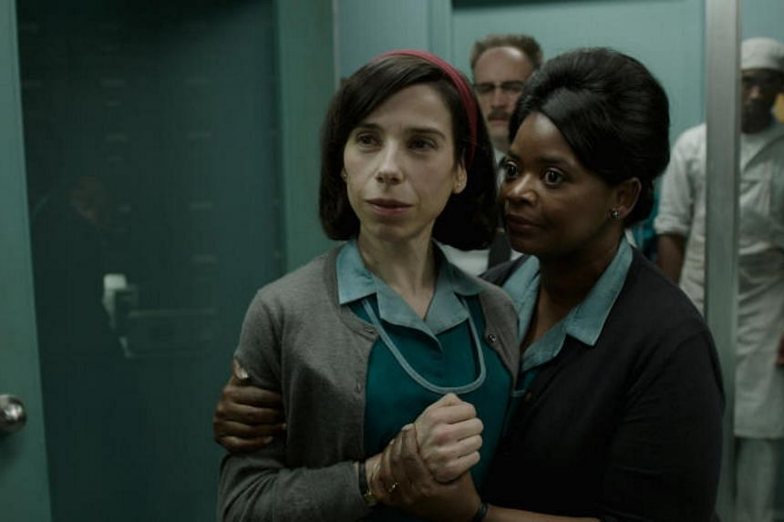 The Shape Of Water, starring Sally Hawkins (left) and Octavia Spencer, has landed seven nominations for the 2018 Golden Globes.