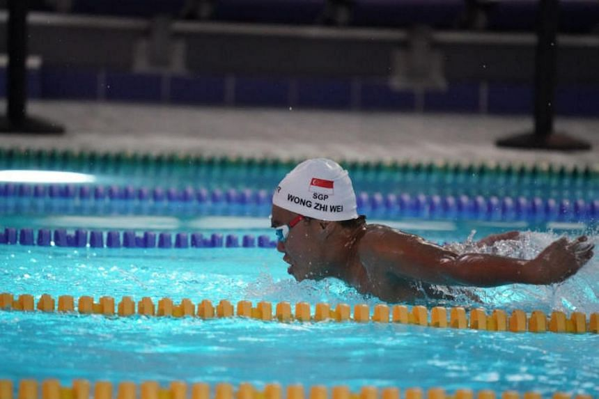 Para-swimmer Wong Zhi Wei, 15, won the gold in the men's S11-13 100m butterfly at the Asian Youth Para Games in Dubai on Dec 11, 2017.