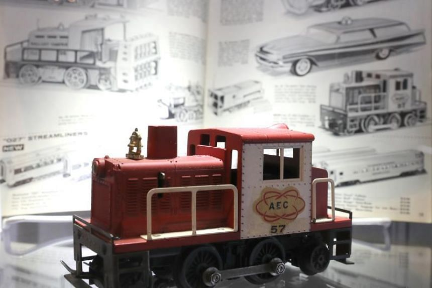 Prototype Lionel 57 AEC Switcher train item is on display for auction as part of the collection of US singer Neil Young at Julien's in Los Angeles, California, USA, on Dec 4, 2017.