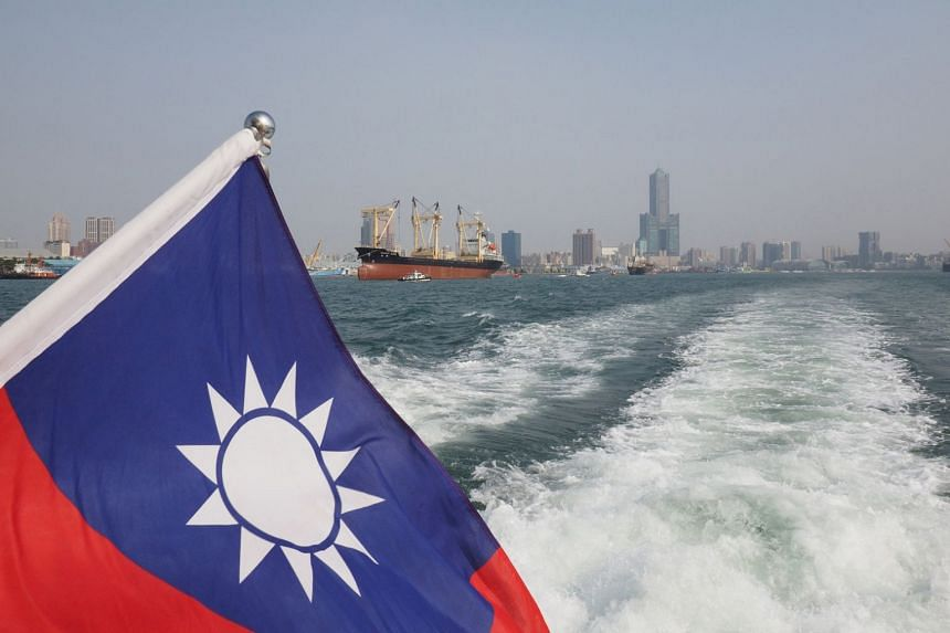 Taiwan's national flag flies on a boat sailing in the Kaohsiung Harbour in Kaoshiung, southern Taiwan, on Jan 12, 2017.