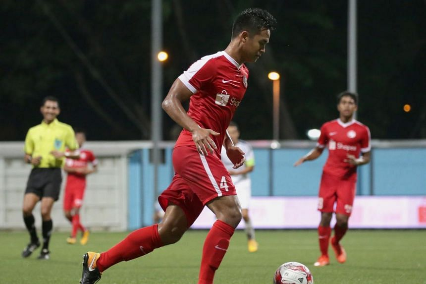 Young Lions players in action during their Great Eastern-Hyundai S.League match against Albirex Niigata at Jalan Besar Stadium on Sep 8.