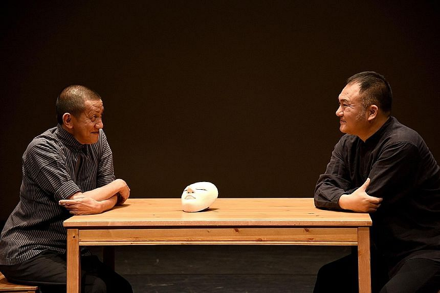 Indonesian dancer and choreographer Didik Nini Thowok (far left) and Chinese Kun opera expert Wang Bin in a triple-bill of intercultural performances co-directed by Danny Yung (above).