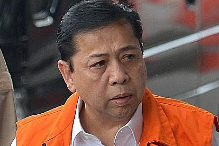 Setya Novanto was last month relieved of his duties as Golkar chairman, a few days after he was detained by the KPK.