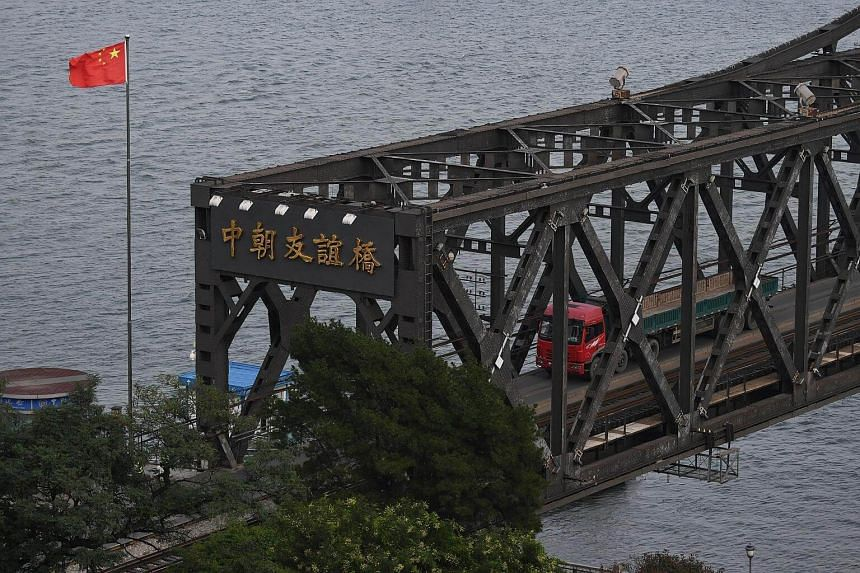 """An official of the Chinese Foreign Ministry said the bridge was being closed """"because the North Korean side will conduct repair work on the iron bridge""""."""