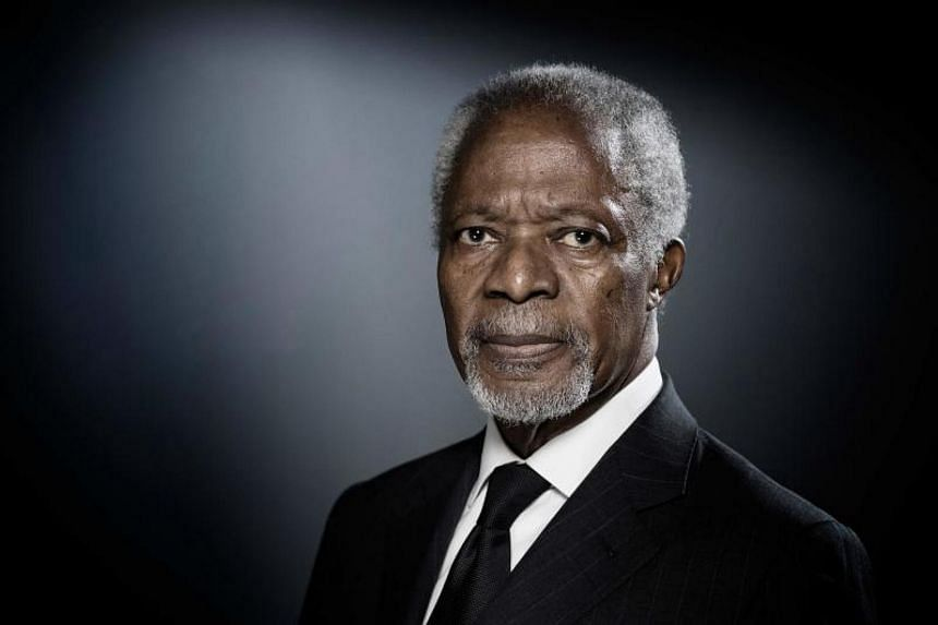 Former UN head Kofi Annan urged leaders to cooperate better on fighting terrorism, migration and global warming.