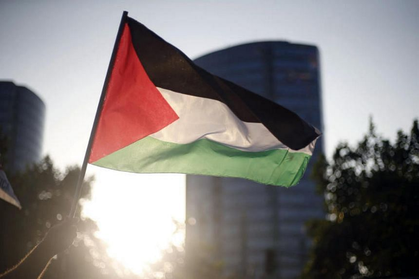 A protester waving a Palestinian flag during a demonstration against US President Donald Trump's recognition of Jerusalem as the capital of Israel on Dec 11, 2017.