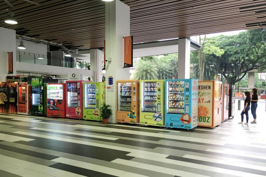 Final-year students at Singapore Polytechnic helped to launch Innomall, which the school claims is the largest cluster of vending machines in Singapore.