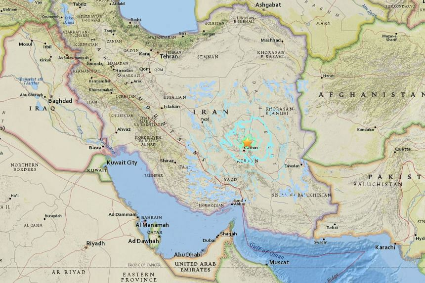 An earthquake struck near the town of Hojdak, in south-east Iran, on Dec 12, 2017.