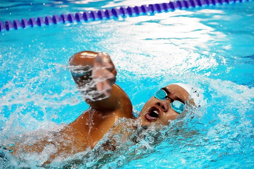 Swimmer Wong Zhi Wei won the men's 400m freestyle (S11-S13) at the Asian Youth Para Games on Dec 12, 2017.
