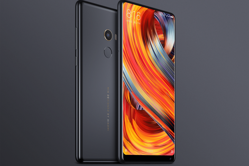 Xiaomi's Mi Mix 2 smartphone was designed by French designer Philippe Starck, and features a bezel-less design.