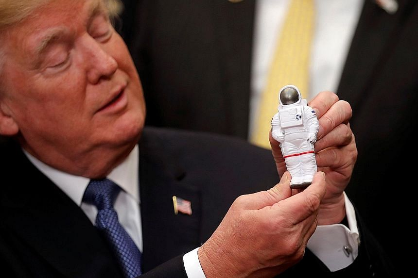 "Mr Trump signed ""Space Policy Directive 1"" on Monday. He hopes to also establish a foundation for a mission to Mars"