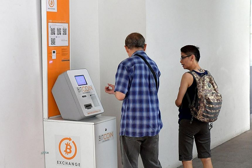 The bitcoin ATM machine at Tiong Bahru Plaza was one of the two that stopped dispensing the cryptocurrency as the network could not keep up with demand. The other one that crashed was at Hong Lim Complex.