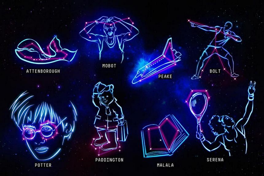 The Look Up to The Stars project is a new set of constellations representing icons from sport, entertainment, science and activism that children are inspired by today.