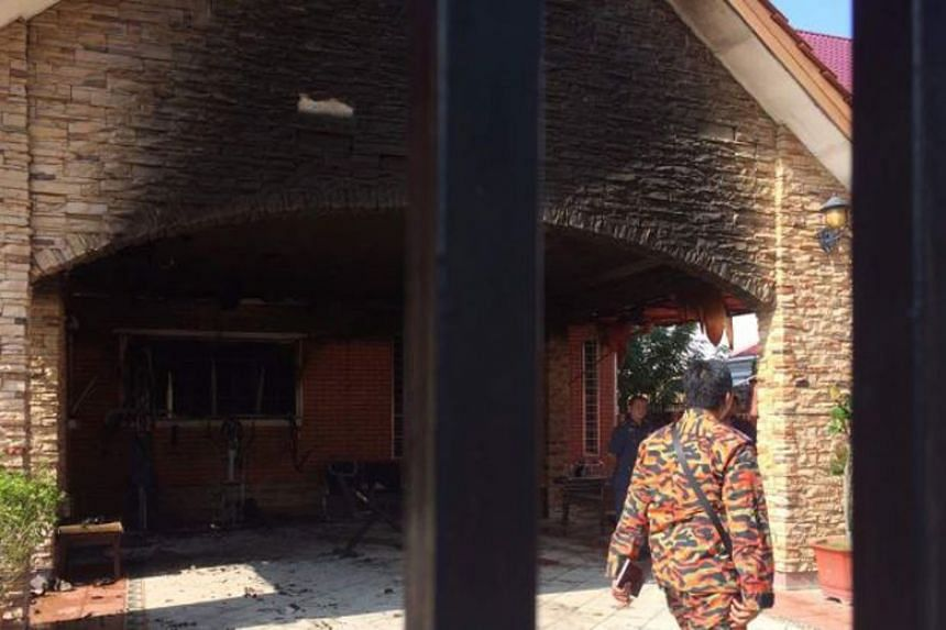 Five people died after a fire razed a nursing home for the elderly in Sungai Long, Kajang, on Dec 13, 2017.
