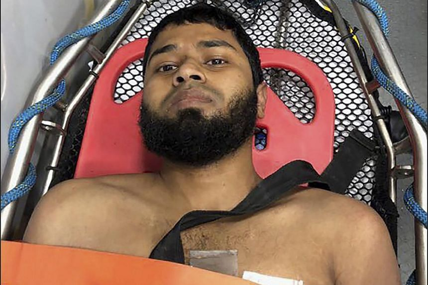Akayed Ullah, the suspect in the subway terror attack, in an ambulance after his apprehension, on Dec 11.