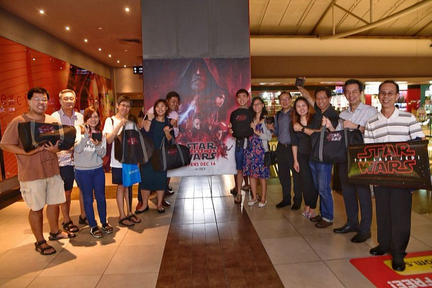 The Straits Times had given out 50 pairs of tickets to the movie preview of Star Wars: The Last Jedi to subscribers in a contest on the SPH Rewards app.