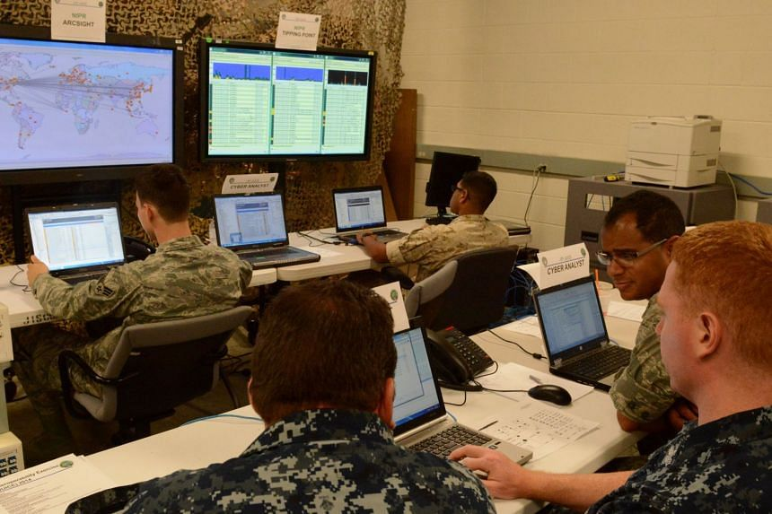 Cyber defense operations at the US Army Communications-Electronics Command, Aberdeen Proving Ground in Maryland, US.