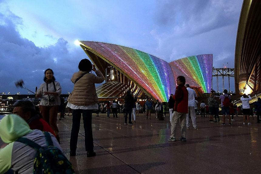 The Sydney Opera House lit up last week to celebrate the passing of the same-sex marriage laws in Australia, with 62 per cent of the public in support.